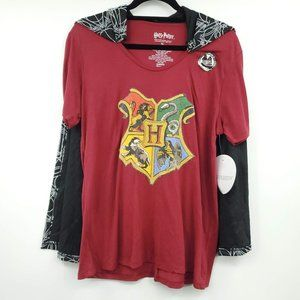 Harry Potter Short Sleeve Graphic Top Cloak XL
